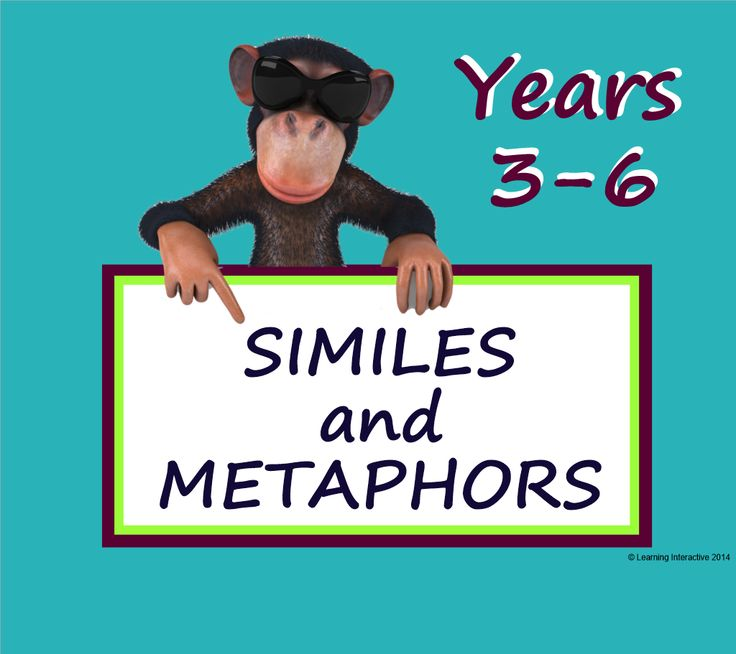Free Download. Suitable for Yr3-6. This 10 page interactive SMART Notebook provides a foolproof method for constructing beautiful similes and metaphors for writing. This resource includes modelled, guided and independent SMART Notebook activities for teaching students to work with similes and metaphors. Worksheets and detailed teacher notes have been included to help teachers make the best use of the resources.