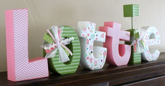 Baby Name Letters for Nursery or Room Decor by JulesWoodnCreations, $68.00