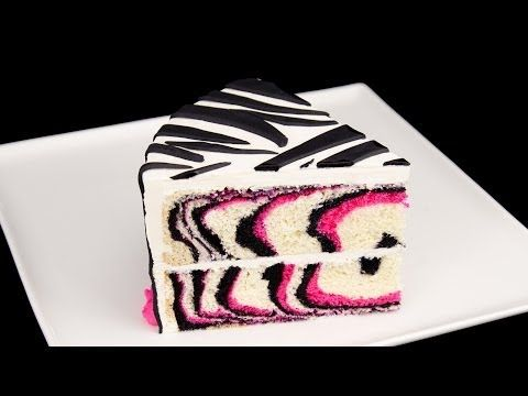 How to Make a Pink Zebra Cake Tutorial