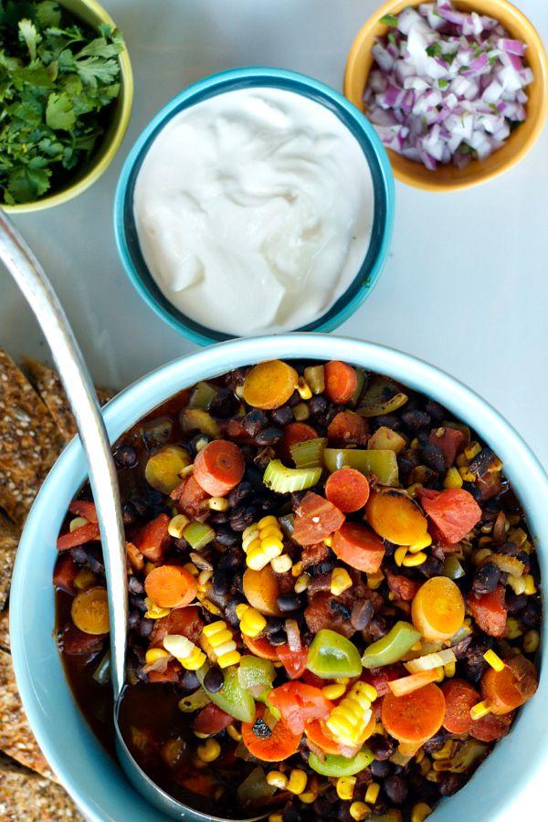 Bean chili, Vegetables and Veggies on Pinterest