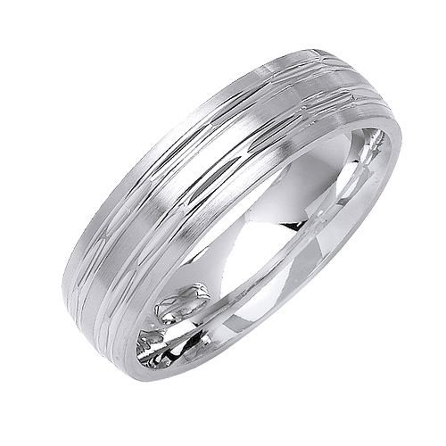 Amazing High Polished Diamond Cut Wedding Band