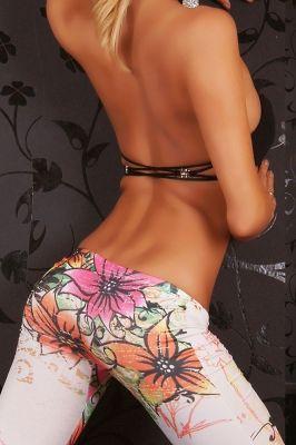 Low Rise Flowery Legging | GlobalMarket - Clothing on ArtFire
