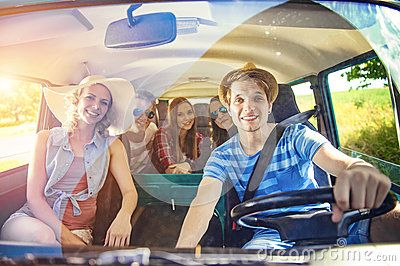 Young Hipster Friends On Road Trip - Download From Over 50 Million High Quality Stock Photos, Images, Vectors. Sign up for FREE today. Image: 60588417