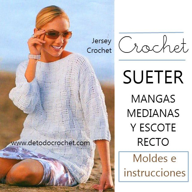 290 best blusa , jersey, top images on Pinterest | Crochet tops ...