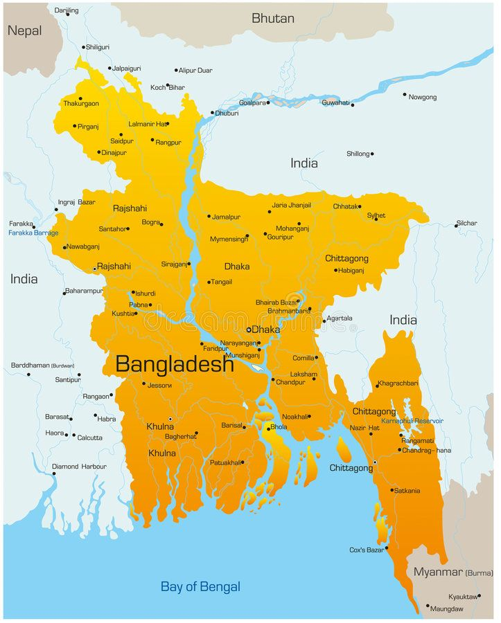 Bangladesh Vector Map Of Bangladesh Country AFF Vector