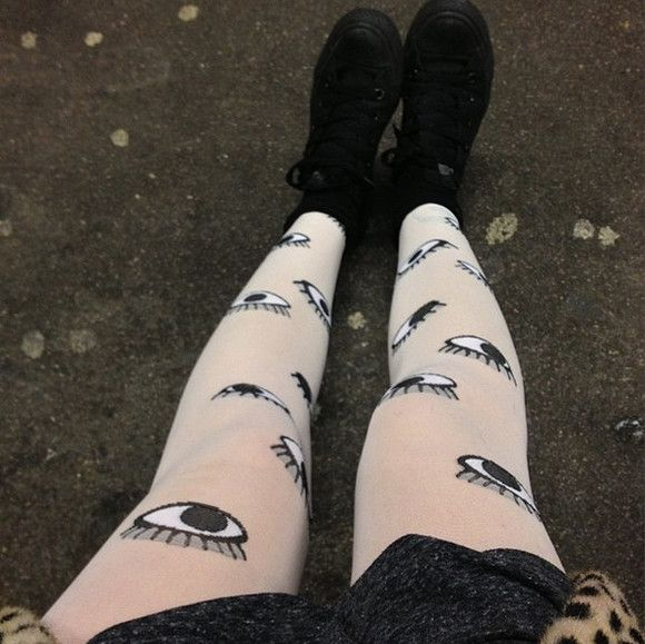 tights eyes goth hipster gothic eye pants eye tights goth hipster soft grunge grunge kawaii harajuku quirky cute adorable weird leggings pale scene lovely japan japanese fashion monkey sold out unique punk punk pop hipster punk strange different alternative