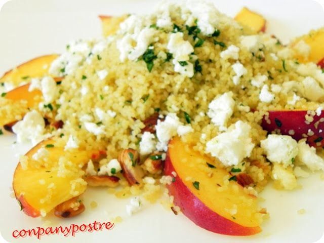 Ensalada de couscous y nectarina