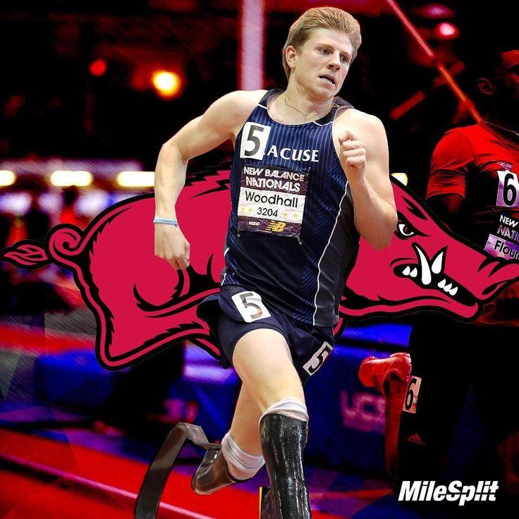 Congrats to Hunter Woodhall for signing with Arkansas  . . . . . #milesplit #track #tracknation #hunterwoodhall #running #arkansas #razorbacks #signing #recruiting #recruitingrundown