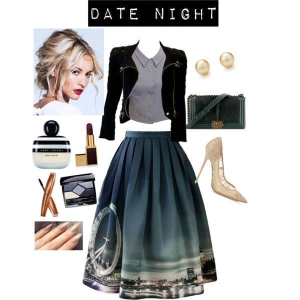 Dinner & a Movie by ruiters-deidre on Polyvore featuring polyvore fashion style Chanel Balmain Chicwish Jimmy Choo Christian Dior Tom Ford Marc Jacobs StreetStyle chic lace date