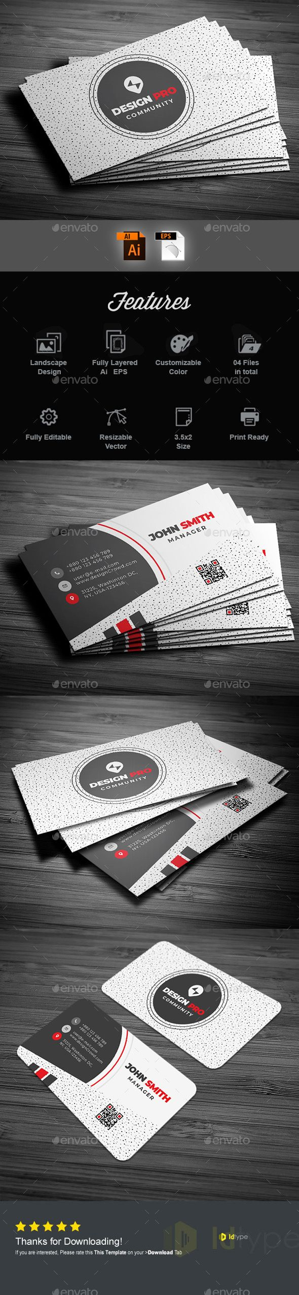 Business Card Template Vector Eps Ai Illustrator Business Cards Creative Vintage Business Cards Business Cards