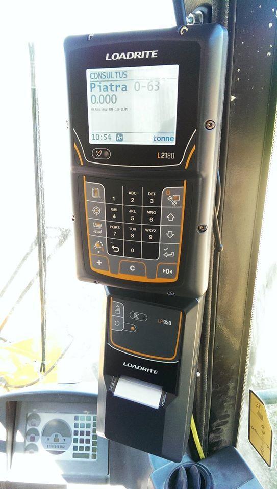 Sistem de cantarire Loadrite L2180 instalat pe Incarcator Frontal Liebherr L580. SISTEME DE CÂNTĂRIRE LOADRITE pentru incarcatoare frontale. Solicita Oferta! www.sitech-romania.ro