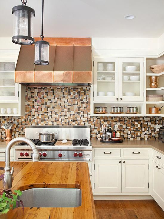 Find the perfect kitchen color scheme copper cream and ranges - Modern kitchen color combinations ...