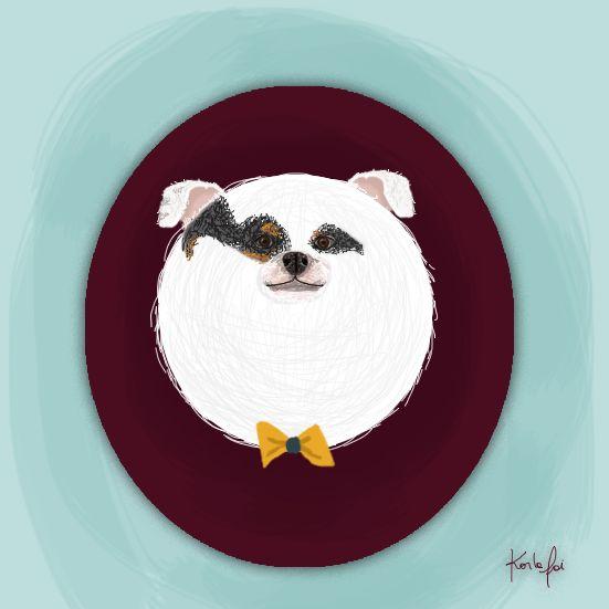 #illustration #ilustracion #foxterrier #karlafai