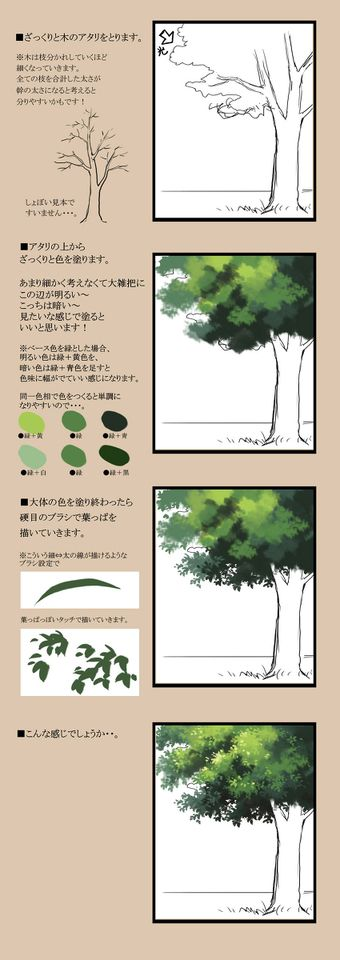 How to Draw Forests and Trees! - pixiv Spotlight