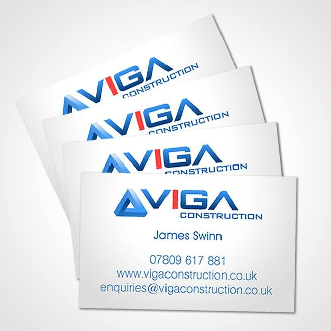Clean and simple business cards designed for Northampton based construction company - Viga Construction