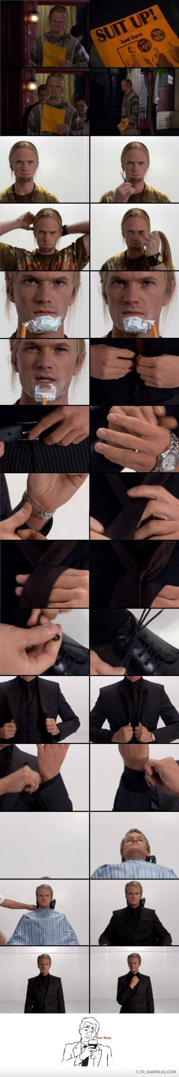 How Barney Stinson suited up.