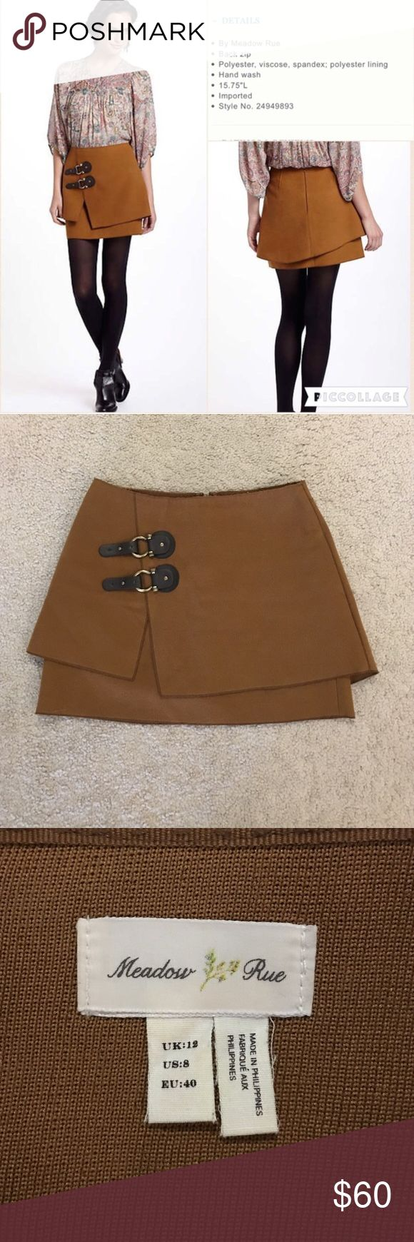 Anthropologie Meadow Rue Felt buckled skirt 8 This is the felt buckled skirt by Meadow Rue for Anthropologie in US size 8, UK size 12. This skirt is in excellent condition! Thanks for looking!!! Anthropologie Skirts Mini