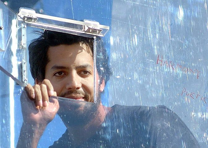 The 10 best magicians: David Blaine Graduating from card tricks and illusions, Blaine is now known for his elaborate public imprisonments. These include spending three days entombed inside six tons of ice, being buried beneath a tank of water in New York, and being suspended in a glass box over the Thames for 44 days in 2003. But, although his endurance is impressive, his most startling trick remains his pavement levitation, his intense manner adding to the disquiet of his audience