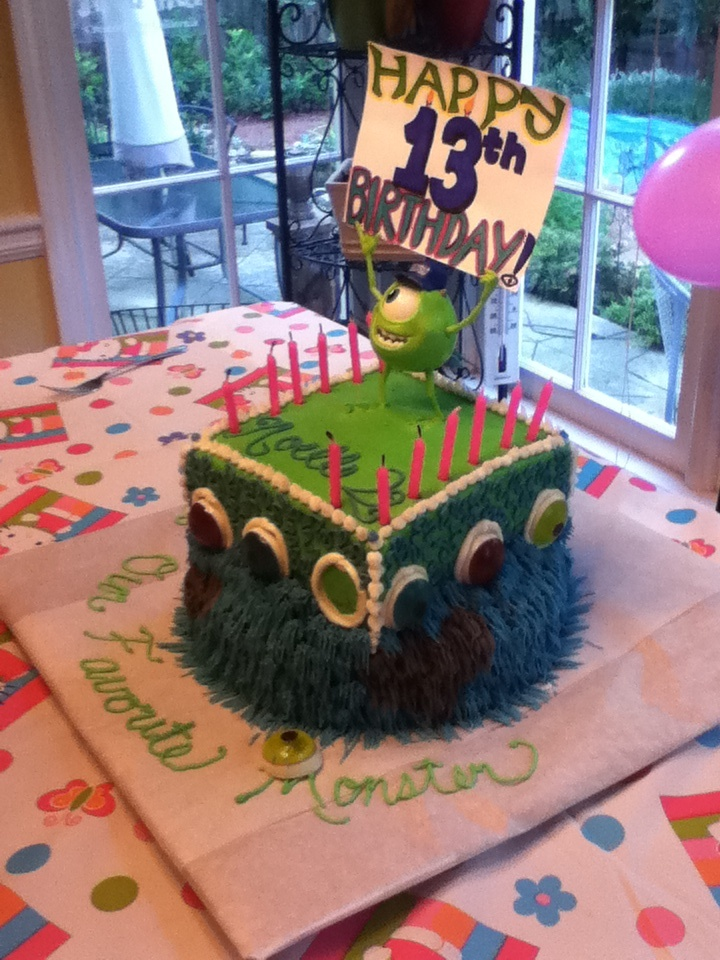 Monsters inc. cake by my wonderful mother for my little