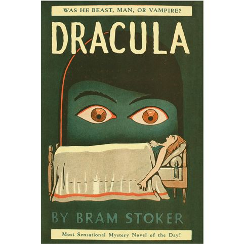 Dracula by Bram Stoker Poster: an amazing 1940s jacket design turned into a poster
