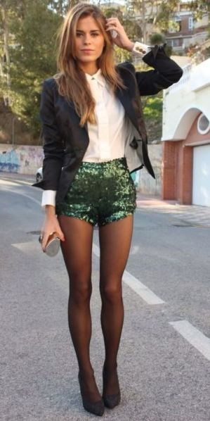 These sequin shorts are so cute!