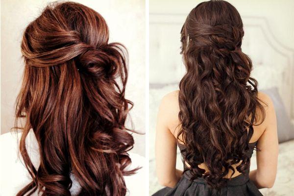 Peinado de novia en media cola #bodas #elblogdemaríajosé #peinadonovia #mediacola #pelosuelto