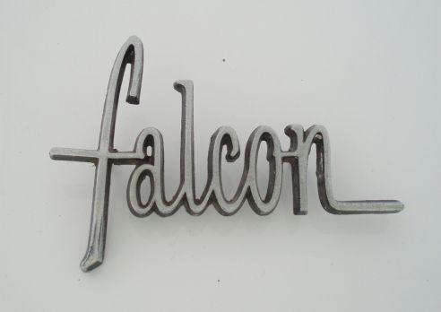 Falcon car name badge