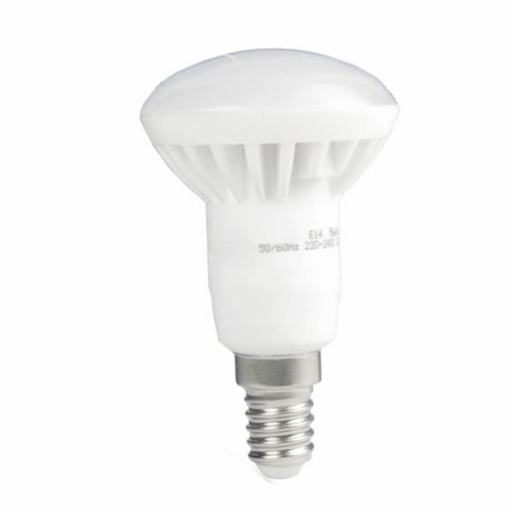 Lampadina LED 6W E14 R50 Bianco 350lm. Sostituisci una lampadina a incandescenza e risparmia sulla bolletta elettrica: da 40W a6W!