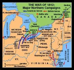 Best War Of Images On Pinterest Lake Erie War Of - Map of us in 1812