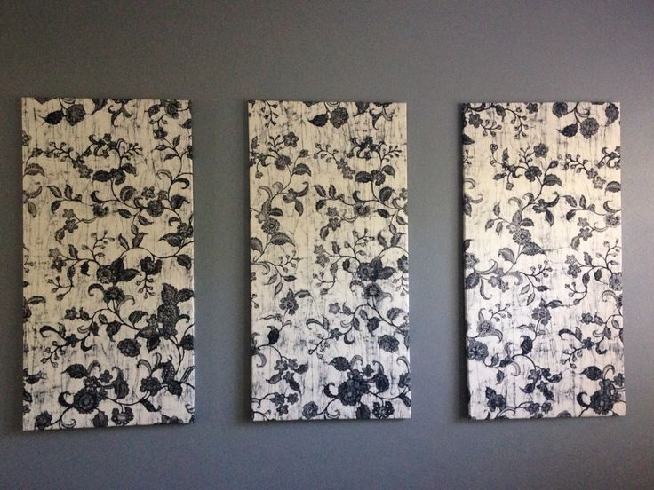 Black and white material on canvas, Indonesian Batik, DIY