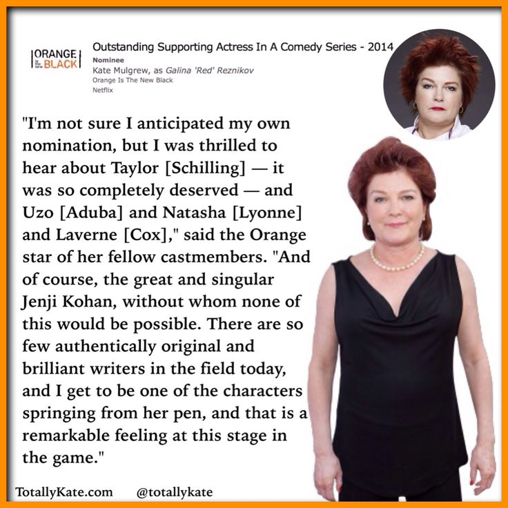 Kate Mulgrew on her Emmy nomination for Orange Is The New Black