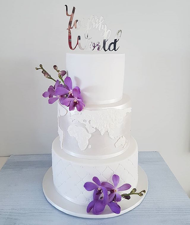 Hi Cakies... Meet 'Sarika' this was a special cake for a travel themed wedding.. Congratulations to the lovely couple xx  www.redapron.com.au