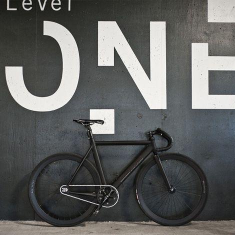 matte blackFixie, Bicycles, White Spaces, Bikes, Graphics Design, Environment Graphics, Signage Design, Matte Black, Gears