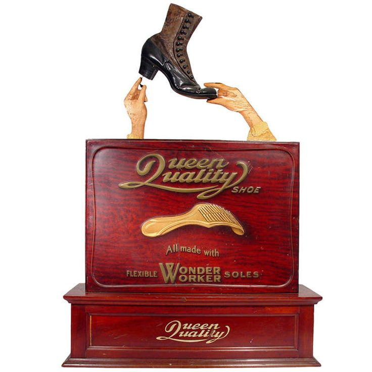 Animated High Button Shoe Advertising Display | From a unique collection of antique and modern curiosities at http://www.1stdibs.com/furniture/more-furniture-collectibles/curiosities/