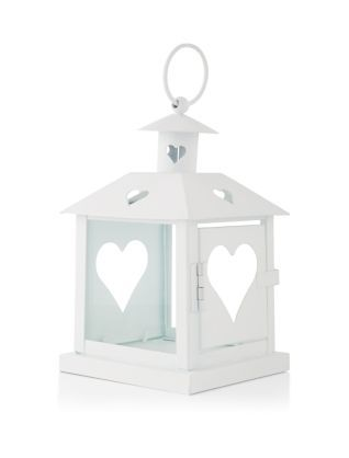 Inside or outside, these White Cut Out Heart Lantern will create an aura of calm when complete with a glowing candle. £5.99 #newlook #homeware #interior