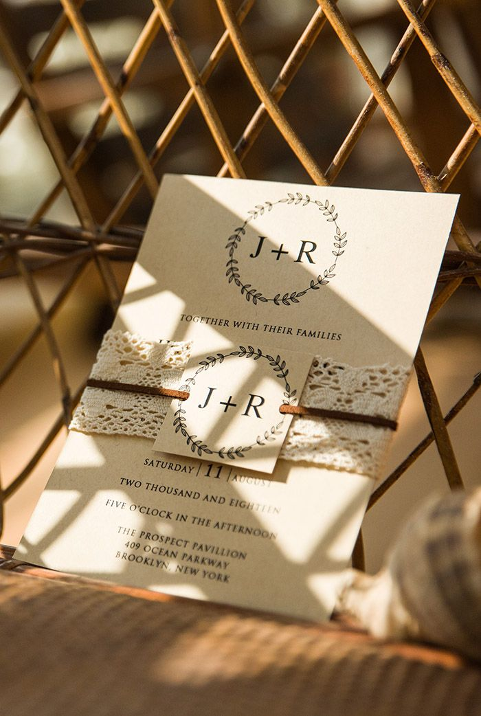 as low as $1.93 rustic lace wedding invitations with printed tags