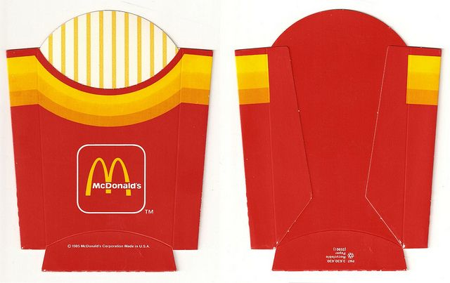 Mcdonald 39 s packaging journey through time french fries for French fries packaging template