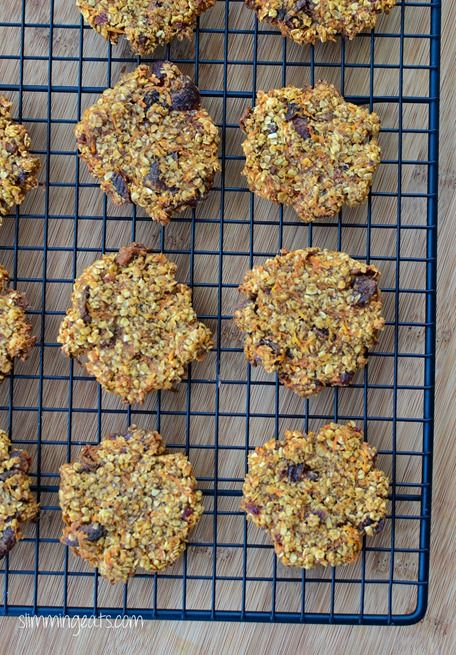 Carrot Cake Flapjack Cookies - Slimming World friendly