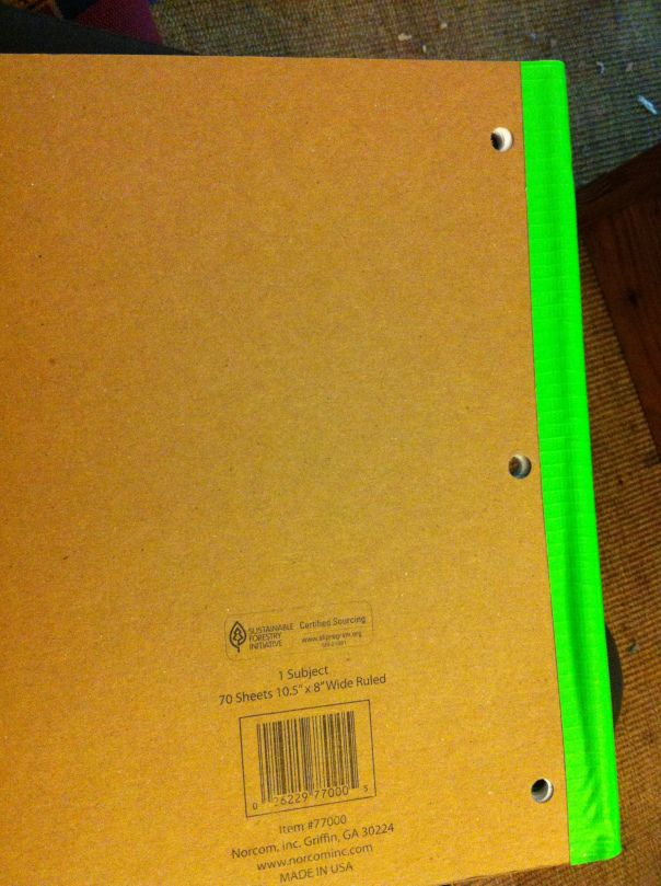 Duct tape spiral notebooks! Why haven't I thought of this?! Those metal spirals drive me nuts.