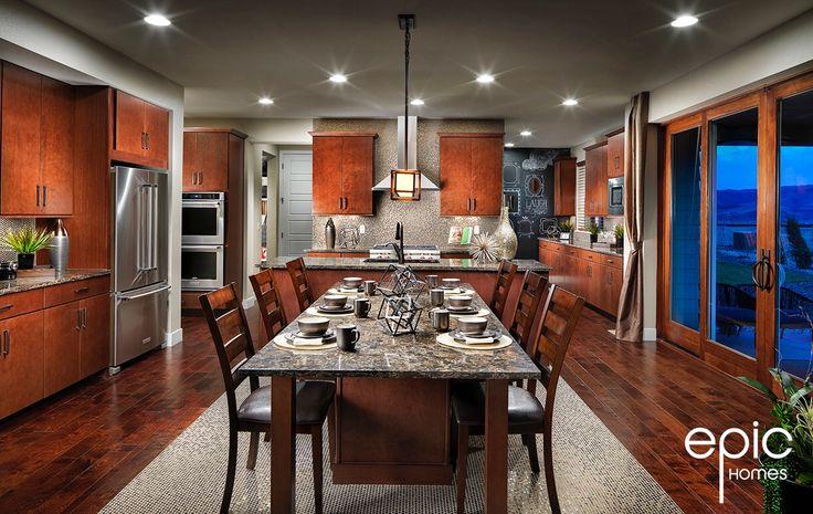 Summit Model Kitchen with Nook Island - 3498 sq ft Model - Epic Homes, Leyden Rock, Arvada Colorado