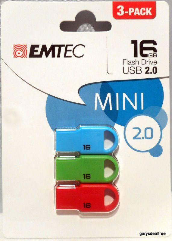 Emtec Flashdrive Three pack 16 GB.