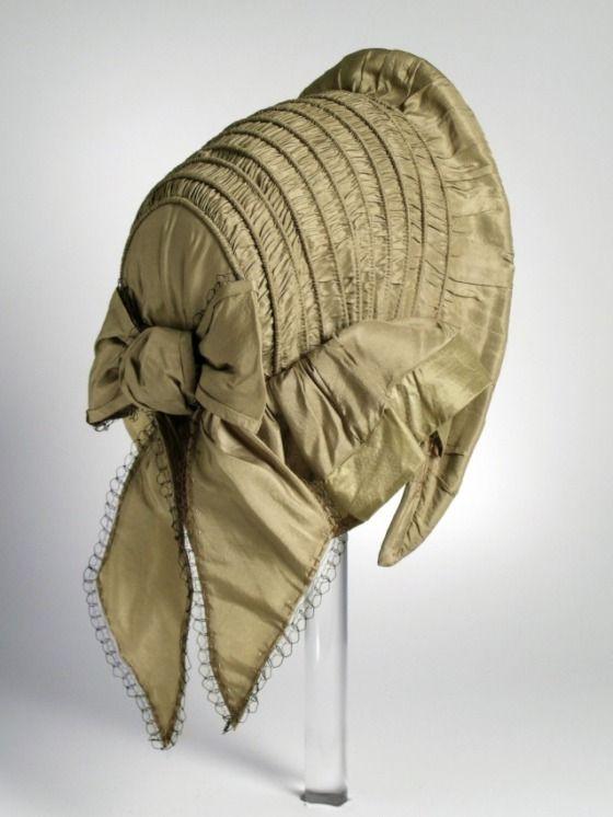 Woman's Capote Bonnet  United States, circa 1857  Costumes; Accessories  Silk taffeta  5 x 7 in. (12.7 x 17.78 cm)  Gift of Joyce Corbett Winkel (M.85.46)