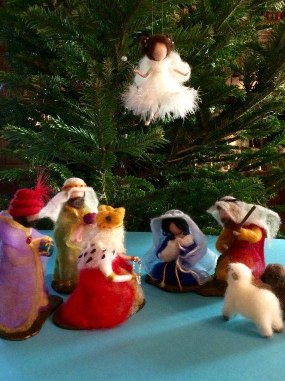 Needle felted Nativity Scene Waldorf inspired Needle by DreamsLab3