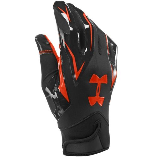 black and white under armour football gloves