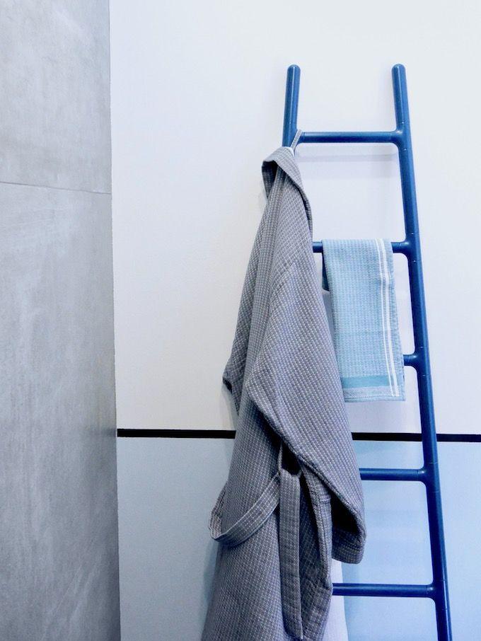 Avant Après Salle De Bain Radiateur Sèche Serviette Chauffant échelle  Design Bleu Comment Bien Choisir Son