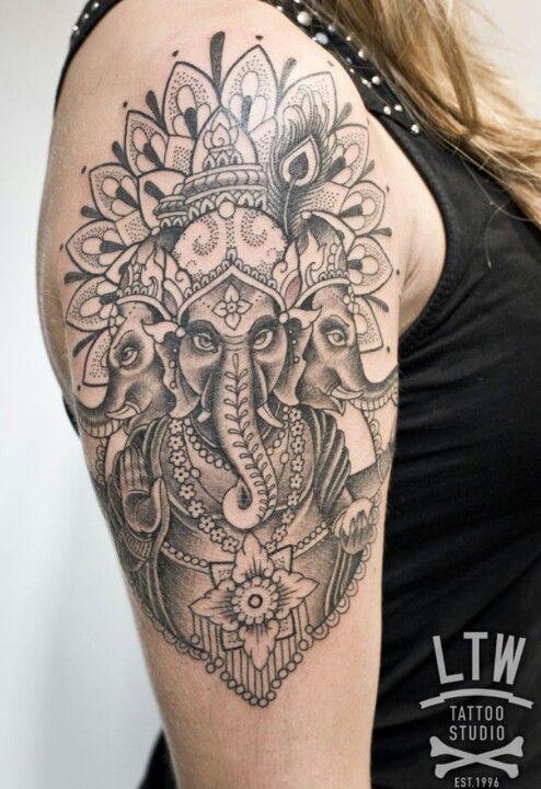 Ganesh tattoo, ltw studio