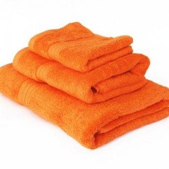 Prosop de baie portocaliu-2 450 gr. bordura Dobby