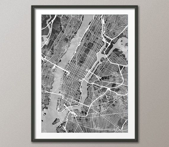 New York City Street Map USA Karte von New York City