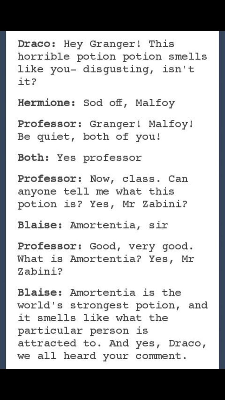 Dramione I don't ship it or anything Harry Potter. But its funny none the less