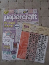 Butterfly Embossing Folder that came free with PC Mag